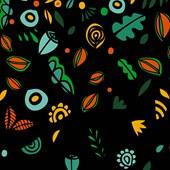 Painel Chuva De Primavera Colorido Fundo Preto Joana Lira