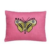 Almofada rosa borboleta amarela Ana Strumpf