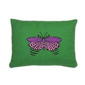 Almofada verde borboleta magenta Ana Strumpf