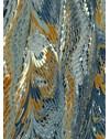 PAINEL CLÁSSICO MÁRMORE AZUL E OCRE 290 cm