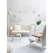 Painel de parede lua cinza branco. + Regina Strumpf