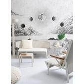 Painel de parede lua dourado branco. + Regina Strumpf