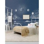 Painel de parede lua negativo azul branco. + Regina Strumpf