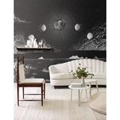 Painel de parede lua negativo preto branco. + Regina Strumpf