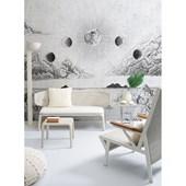 Painel de parede lua prata branco. + Regina Strumpf