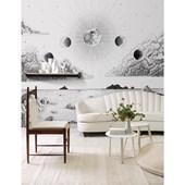 Painel de parede lua preto e branco branco. + Regina Strumpf