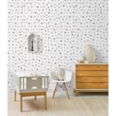 Papel de parede asterisco preto e branco Ana Strumpf