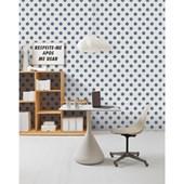 Papel de parede bolas azul branco. + Regina Strumpf