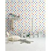 Papel de parede bolas primárias branco. + Regina Strumpf