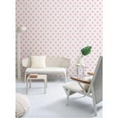 Papel de parede bolas rosa branco. + Regina Strumpf