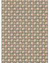 PAPEL DE PAREDE CLÁSSICO ROSA I TURQUESA E VERMELHO 290 cm