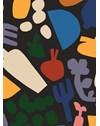 PAPEL DE PAREDE COZINHA DIVERTIDA AZUL MARINHO 290 cm