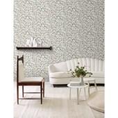 Papel de parede floral pequeno azul branco. + Regina Strumpf