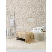 Papel de parede floral pequeno rosa branco. + Regina Strumpf