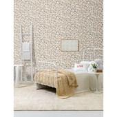 Papel de parede floral pequeno vermelho branco. + Regina Strumpf