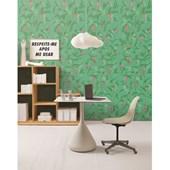Papel de parede glicinia fundo verde Snijder & Co