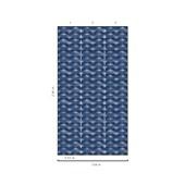 Papel de parede grafismo rede azul suave Marcelo Rosenbaum