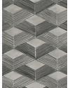 PAPEL DE PAREDE GRAFISMO REDE CINZA 290 cm
