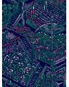 PAPEL DE PAREDE JARDIM BOTÂNICO NEON AZUL 290 cm