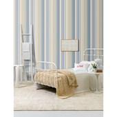 Papel de parede listra larga azul branco. + Regina Strumpf