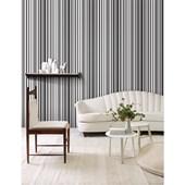 Papel de parede listra larga preto e branco branco. + Regina Strumpf