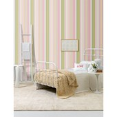 Papel de parede listra larga rosa branco. + Regina Strumpf