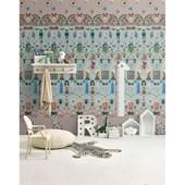 Papel de parede memórias azul e rosa felipe morozini
