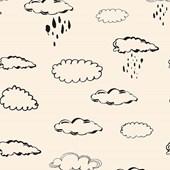 Papel de parede nuvem bege com preto Joana Lira