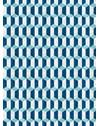 PAPEL DE PAREDE PARALELOGRAMO AZUL 290 cm