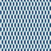 Papel de parede paralelogramo azul branco.