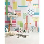 Papel de parede patch intensas branco. + Regina Strumpf