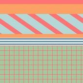 Papel de parede patch listras pastéis branco. + Regina Strumpf