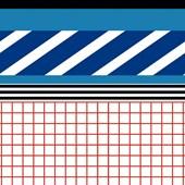 PAPEL DE PAREDE PATCH LISTRAS PRIMÁRIAS branco. + REGINA STRUMPF