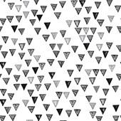 Papel de parede pirâmide branco e preto Joana Lira