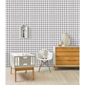 Papel de parede xadrez preto e branco Ana Strumpf