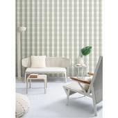Papel de parede xadrez verde branco. + Regina Strumpf